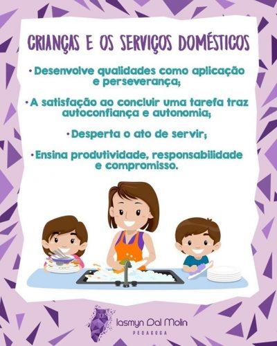 Crianças e as atividades domésticas